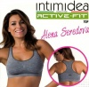 Intimidea Top donna  Active-Fit 4-L/XL grigio melange